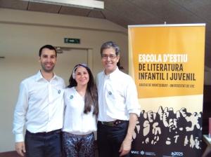 Amb l'Albert i la Susana a l'escola d'estiu de Montserrat