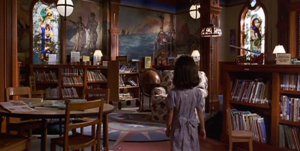 matilda zona  infantil de la biblioteca