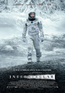1. cartel de Interstellar